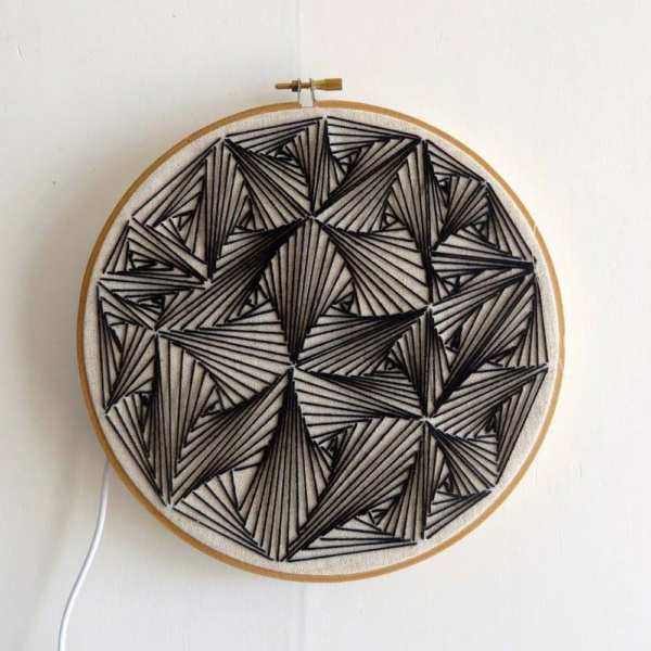 ►►△ Lamp - black embroidered