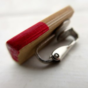 ►►△ Bamboo earring clip [red]back