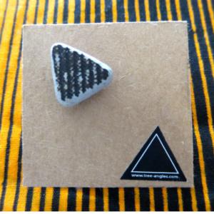 ►►△ Black ceramic earring [1]
