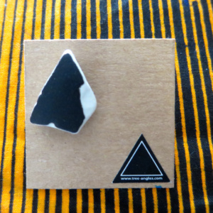 ►►△ Black ceramic earring [4]