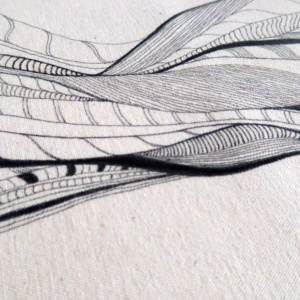 ►►△ Lines Tote Bag detail